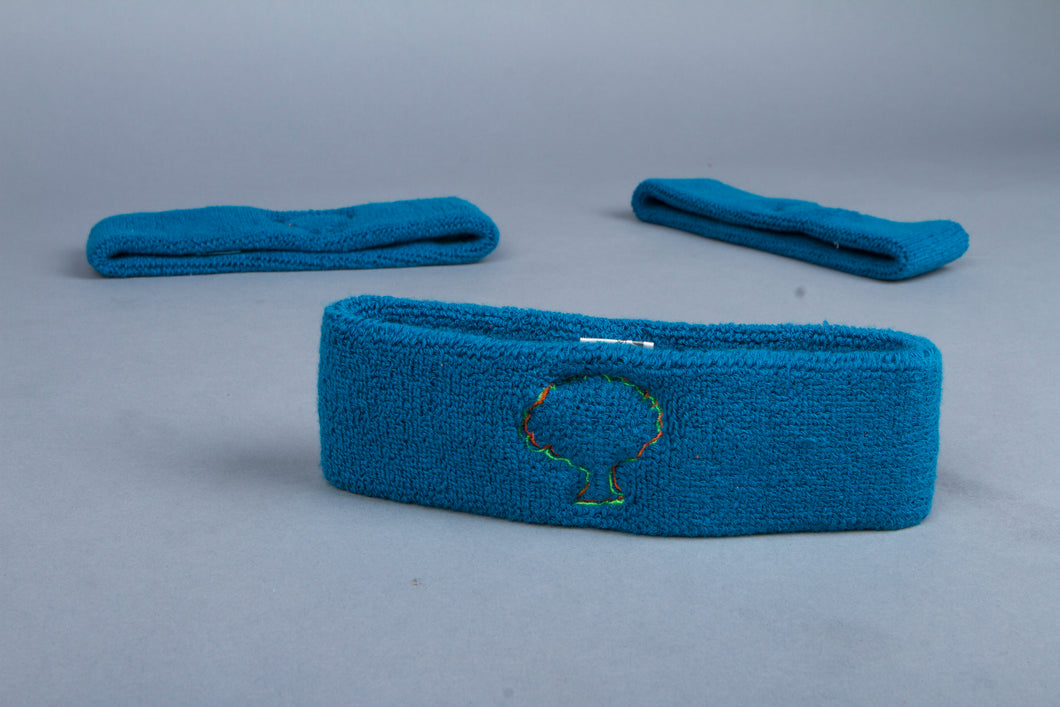 Blue tree logo Headband
