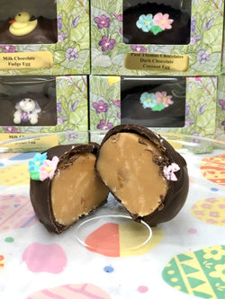 Chocolate covered Easter Praline eggs