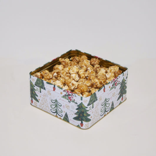 Christmas Caramel Kettle Corn Tin