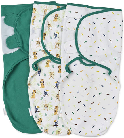 Baby Swaddle Wrap - Pack of 3 Swaddle Blankets - 100% Cotton