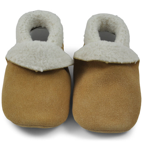 Baby Slippers - Beige