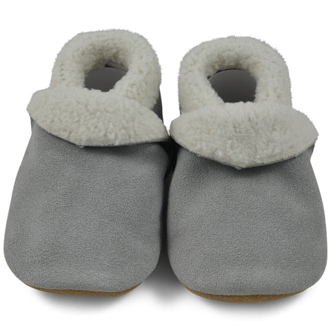 Baby Slippers - Grey