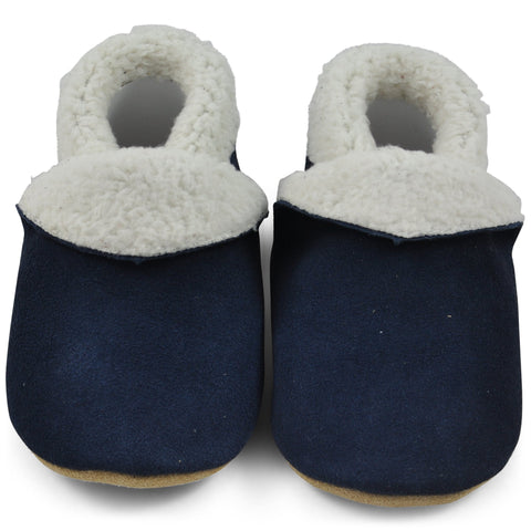 Baby Slippers - Navy Blue