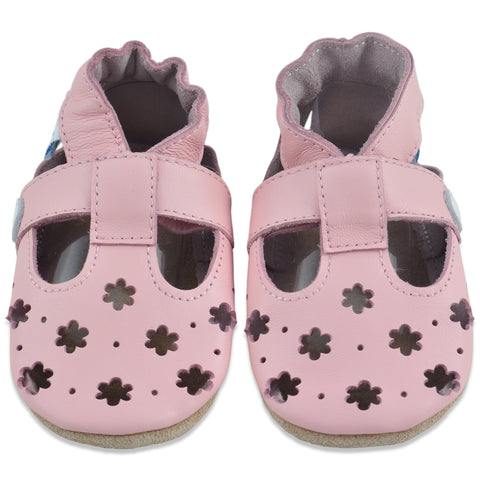 Baby Sandals Pink Flowers