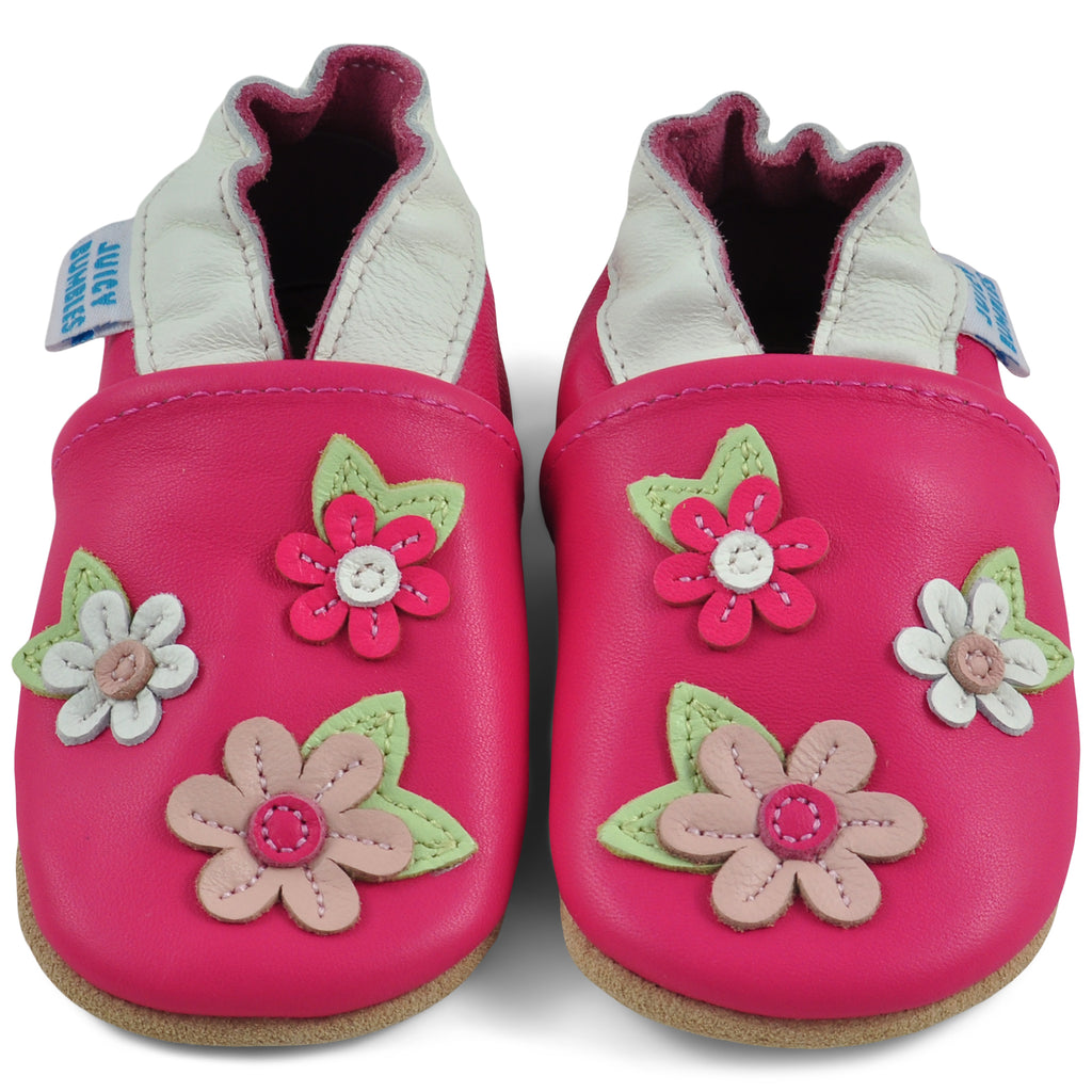 Baby Shoes Pink Blossoms