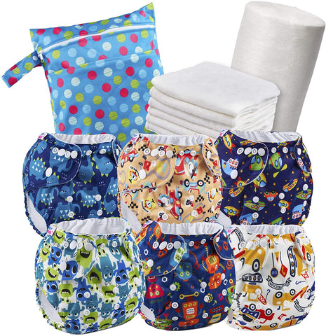 Boy Reusable Nappy Kit