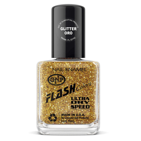 GNP Esmalte de Uñas 15ML Esmalte FLASH Colors de GNP 15ML Glitter Oro