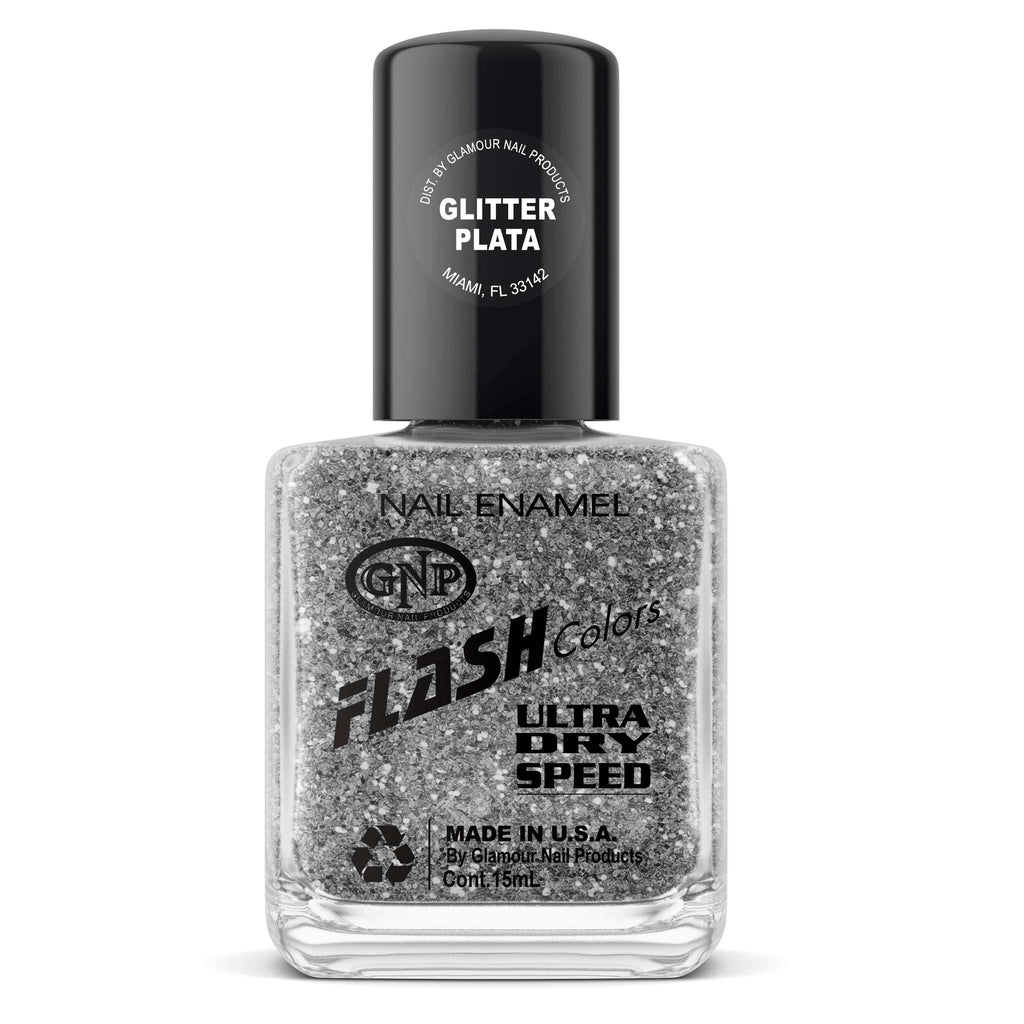 GNP Esmalte de Uñas 15ML Esmalte FLASH Colors de GNP 15ML Glitter Plata