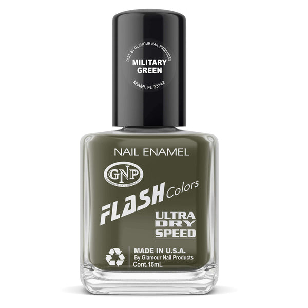 Esmalte FLASH Colors de GNP 15ML Military Green en Beauty Supply