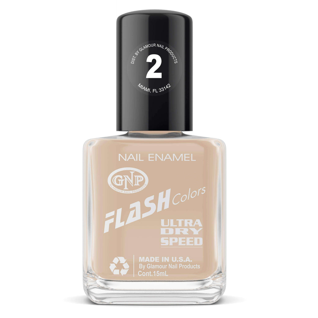 Esmalte FLASH Colors de GNP 15ML Nro.2 Nude Esmalte de Uñas GNP 15ML
