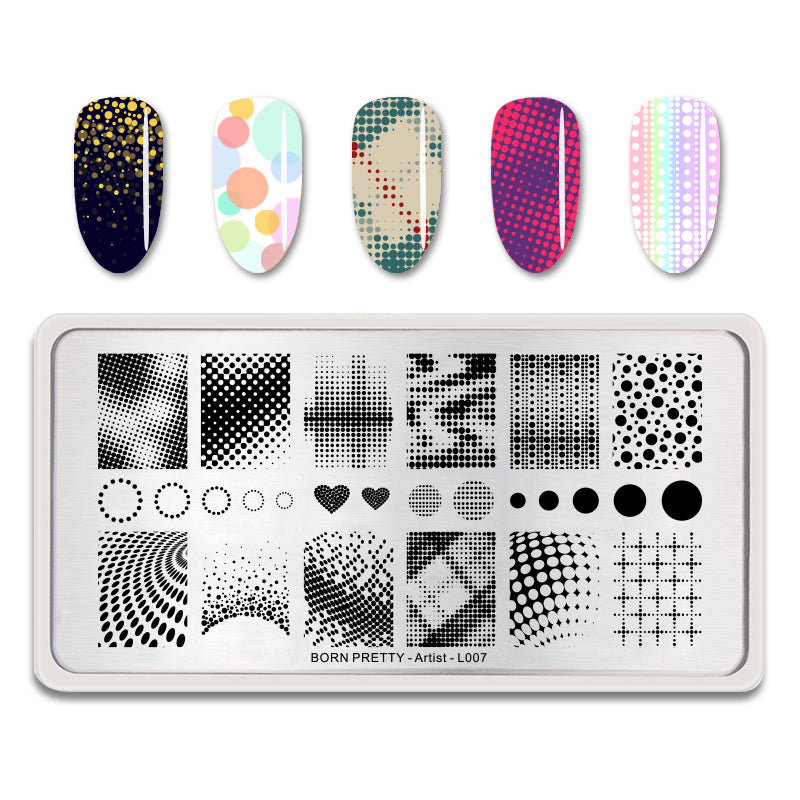 Placas De Stamping Born Pretty De Metal Rectangulares en Beauty Supply