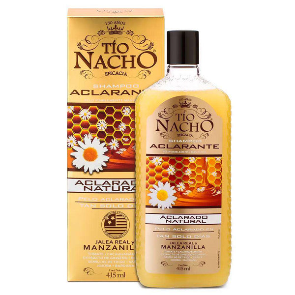 Shampoo Tío Nacho Anticaída Aclarante 415ml en Beauty Supply
