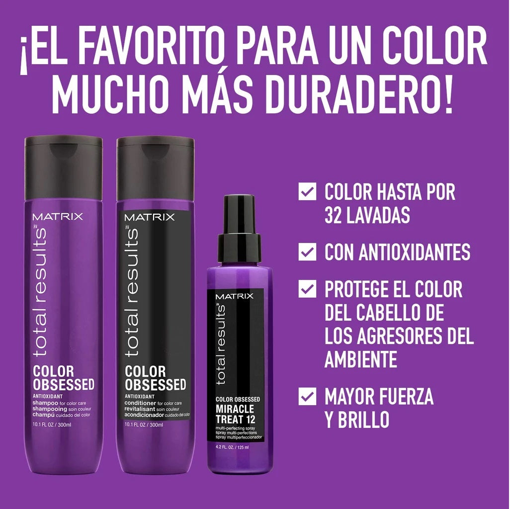 Shampoo Matrix Total Results Color Obsessed cabello con color 300 ml en Beauty Supply