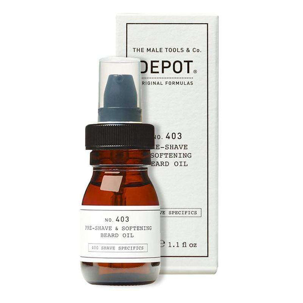 Aceite Depot no.403 30ML Pre afeitado y suavizante de barba en Beauty Supply