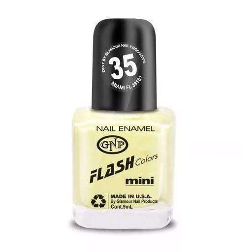 Esmalte FLASH Colors de GNP 9ML Nro.35 Amarillo Patito Esmalte de Uñas GNP