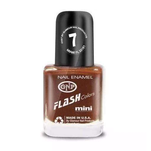 Esmalte FLASH Colors de GNP 9ML Nro.7 Marron Chocolate! en Beauty Supply