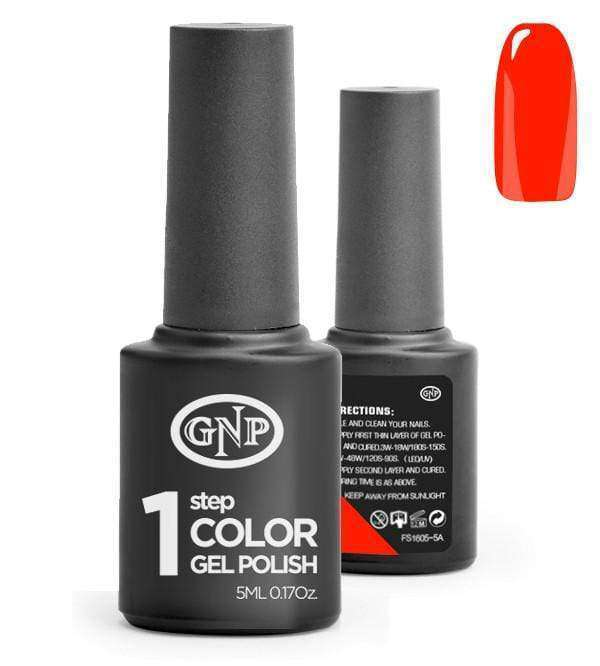 Esmalte Permanente en Gel GNP de un solo paso! #16 Rojo Fuego en Beauty Supply