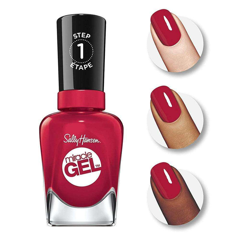 Esmaltes Semipermanentes Sally Hansen Miracle Gel 449 Rhapsody Red en Beauty Supply