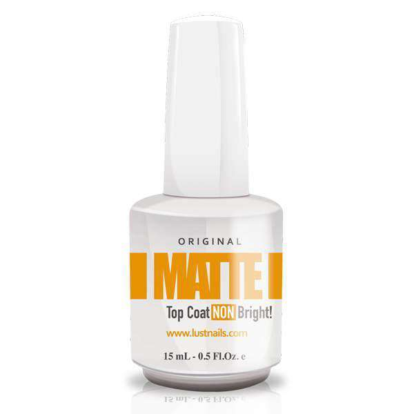 MATTE Top Coat Nail Lacquer Lustnails 15ML en Beauty Supply