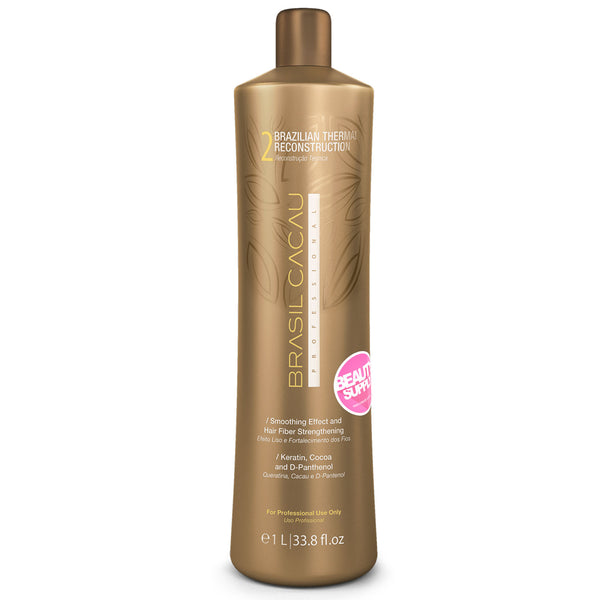 BRASIL CACAU Brazilian Reconstructor Thermal PASO 2 1Lt en Beauty Supply