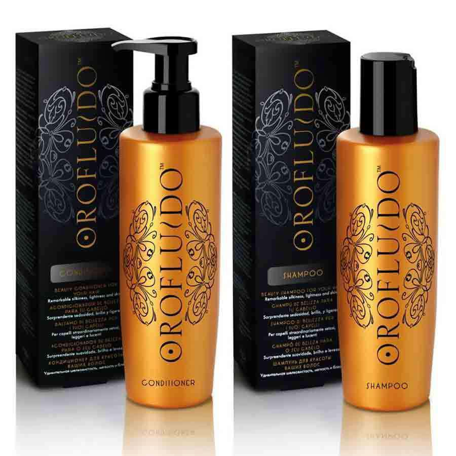 AMINCO Group Pack Oro Fluido REVLON Shampoo y Acondicionador 200ml