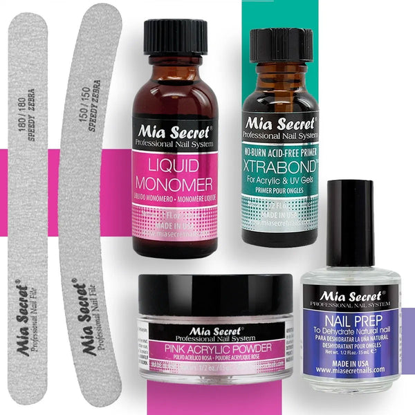 Kit De Uñas Acrílicas Mia Secret Con Limas. en Beauty Supply