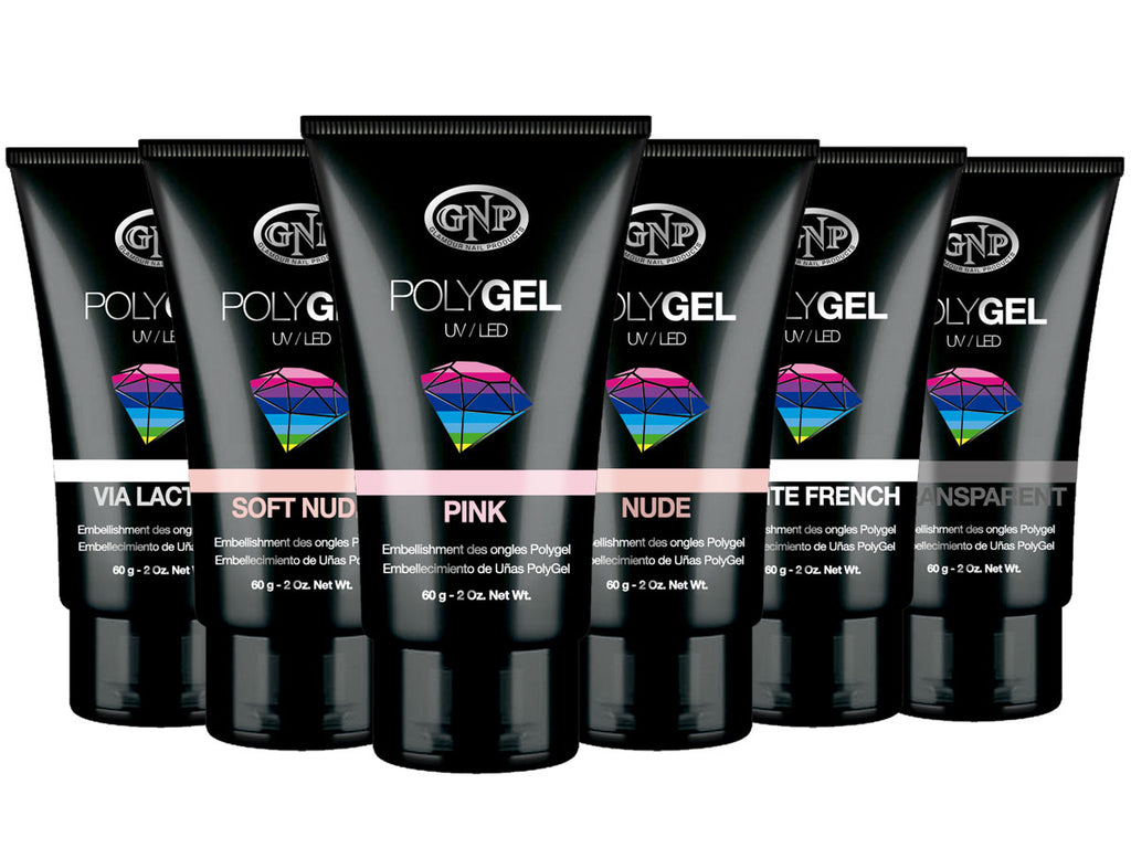 Pomo de Polygel GNP 60gr. Varios tonos. en Beauty Supply