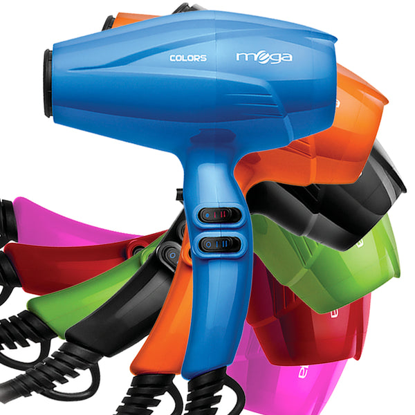 SECADOR DE PELO PROFESIONAL MEGA COLORS 2100W en Beauty Supply