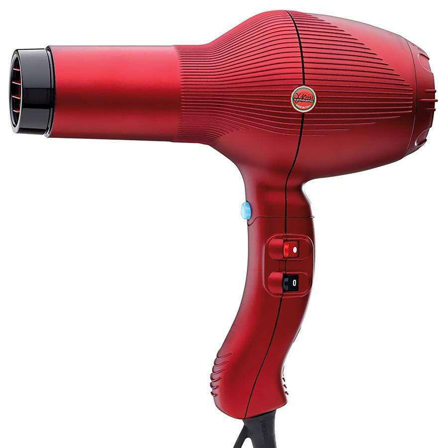 Secador de Pelo GAMMA PIÚ 5555 Rojo TURBO TORMALIONIC en Beauty Supply