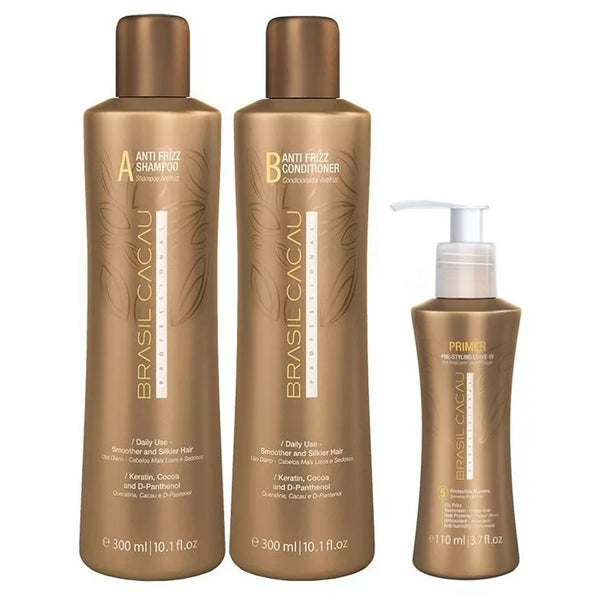 Kit Mantenimiento BRASIL CACAU Antifrizz con Primer en Beauty Supply