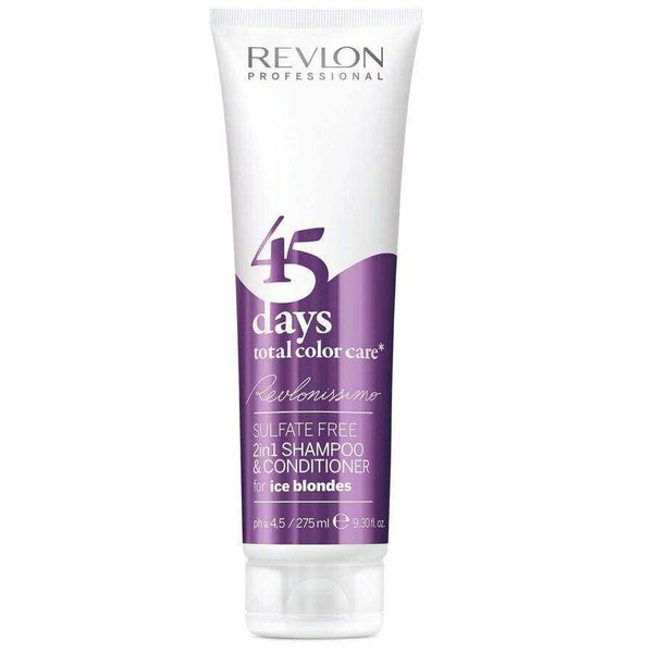 Shampoo Revlon REVLONissimo 45 Days 2en1 Ice Blondes 275ML en Beauty Supply
