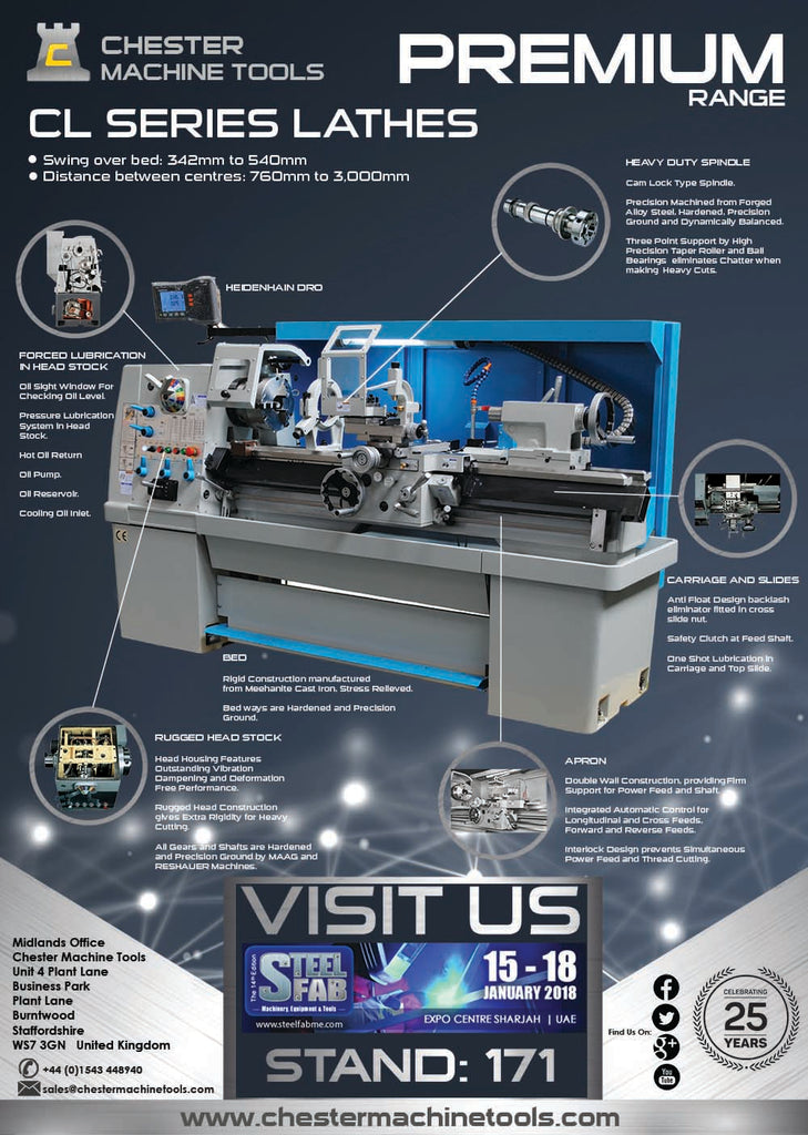 Our Premium Machines Range - CL Series Lathes