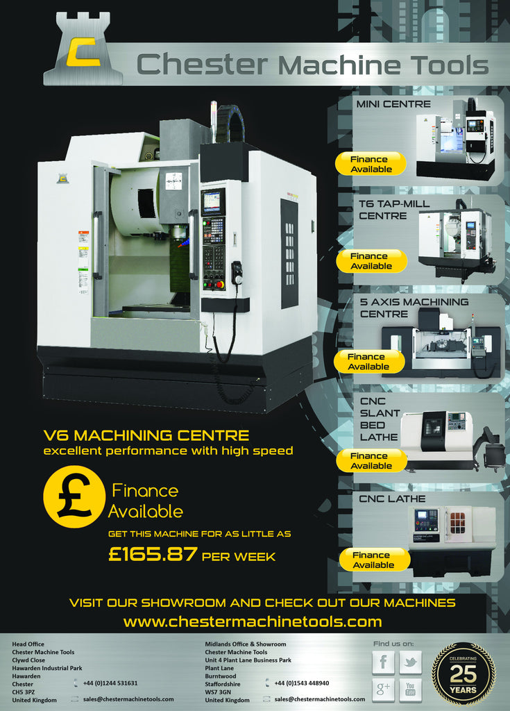 Finance options available on Chester Machines