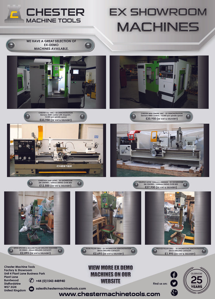 More Ex-Demo Machines including CNC Machining Centres