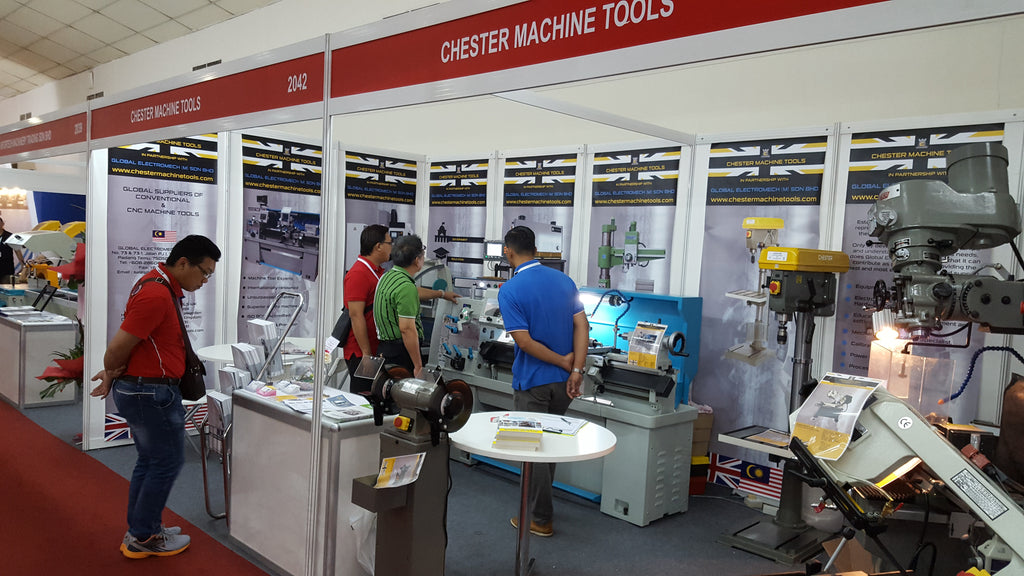 Chester Machine Tools exhibit at Metalled KL in Malaysia