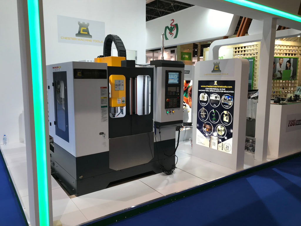 Chester Machine Tools Exhibit at GESS DUBAI . SHEIKH SAEED HALLS, DUBAI WORLD TRADE CENTER
