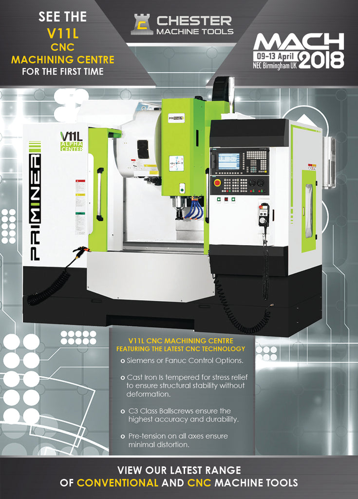 See the V11L CNC Machining Centre at MACH 2018