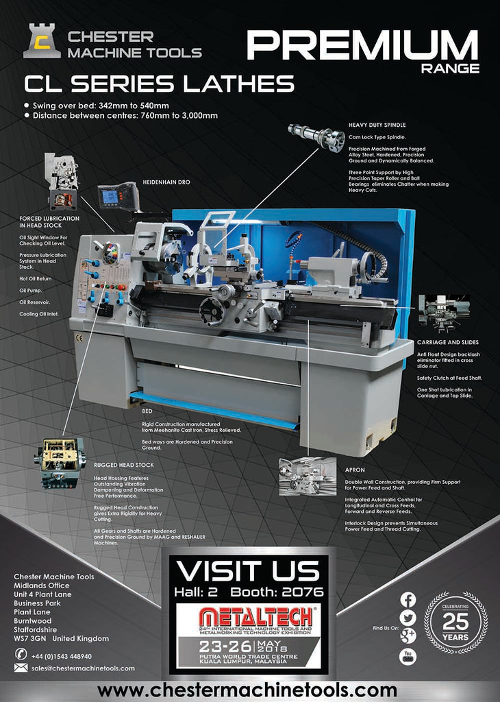 SEE THE CL38 LATHE LIVE AT METALTECH