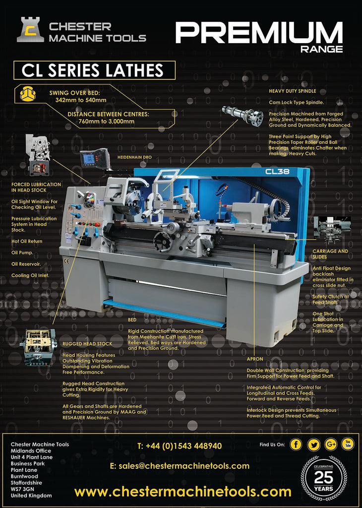 Chester's Premium Range of Lathes
