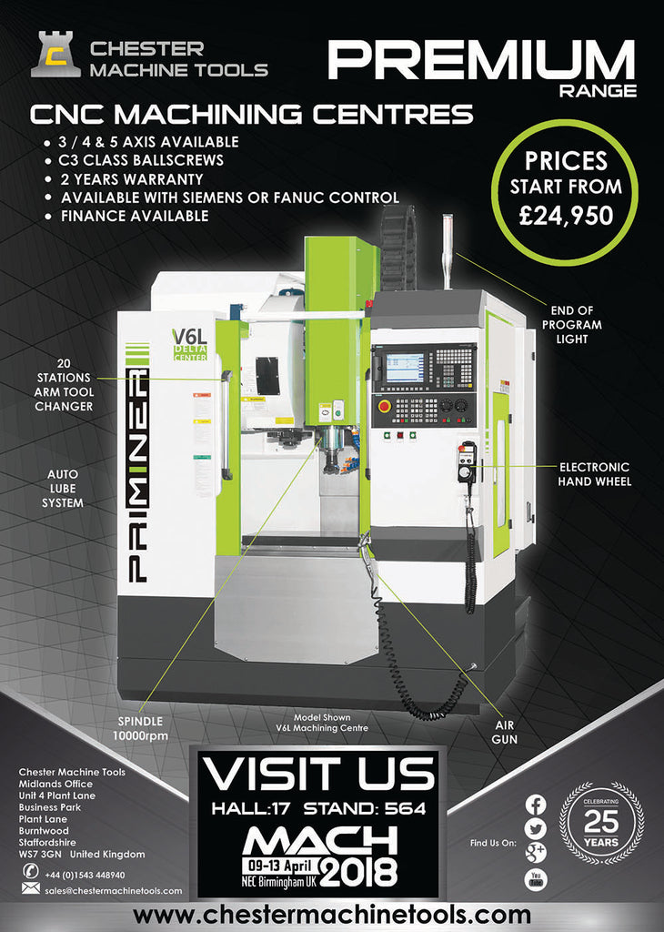 Chester Machine Tools CNC Machining Centres
