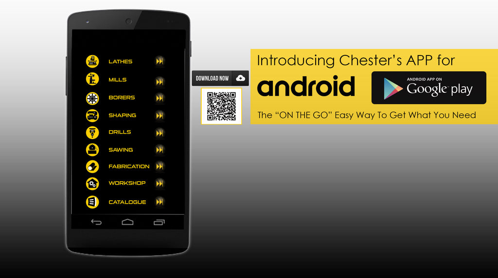 Introducing Chester Machine Tools App for Android...