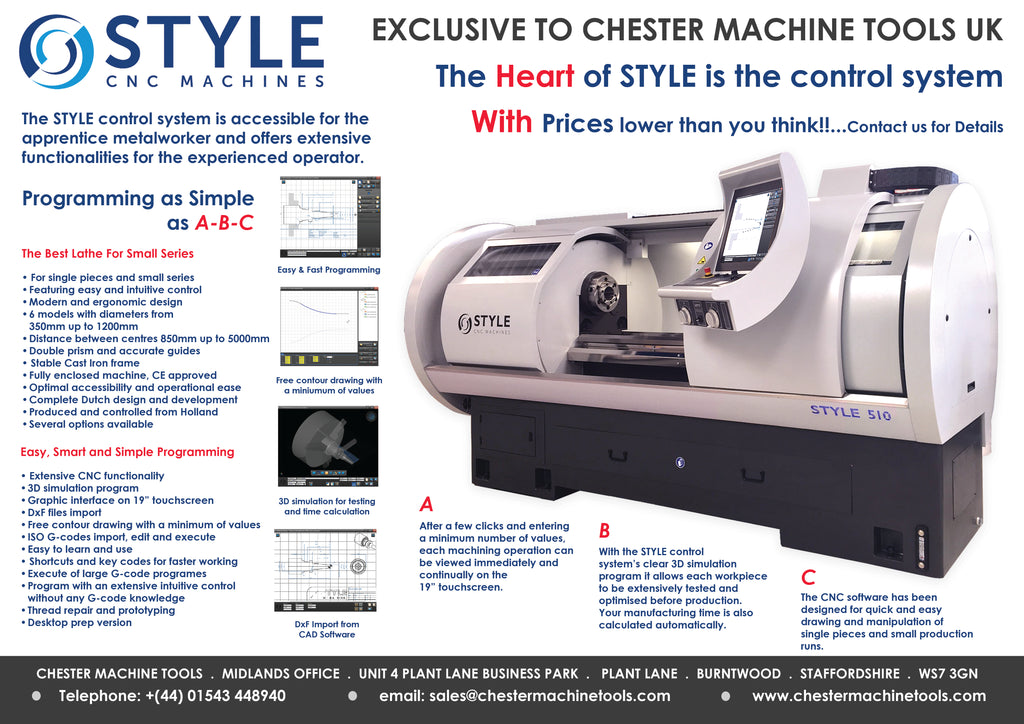STYLE - Made in Holland CNC Lathes