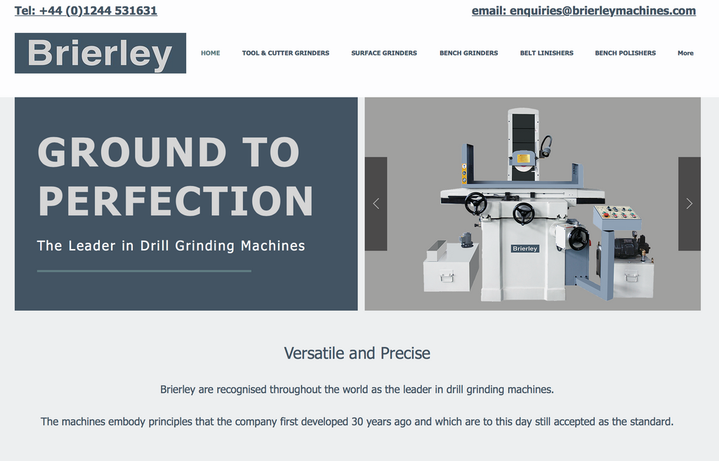 Brierley Drill Grinding Machines - The New Website