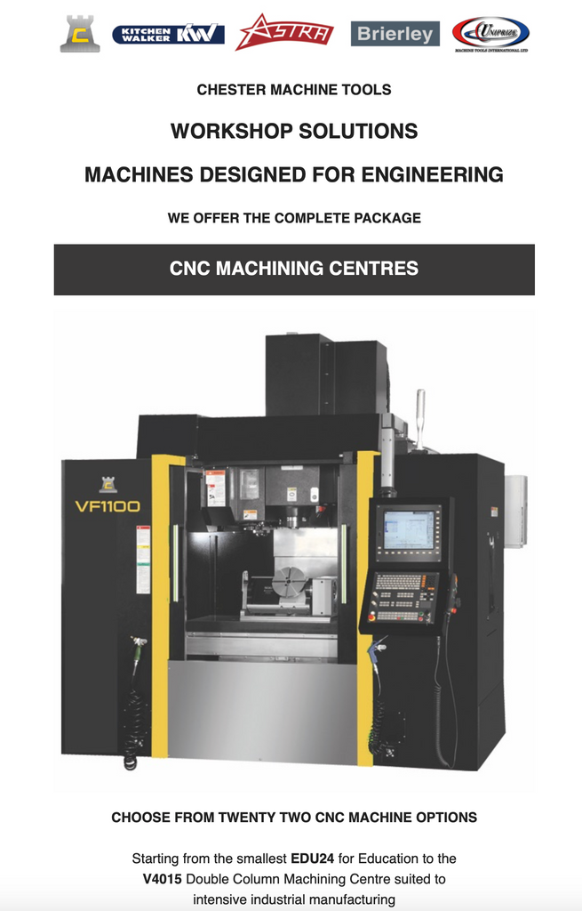 Choose from Twenty Two CNC Machining Centres
