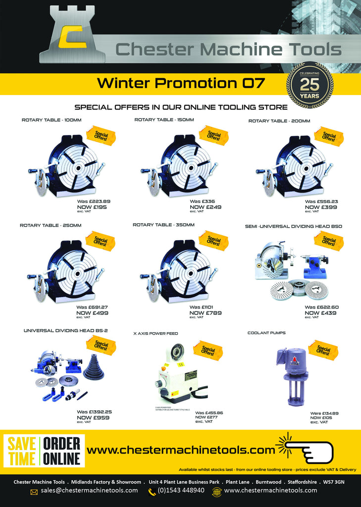 Chester Machine Tools Latest Promotions