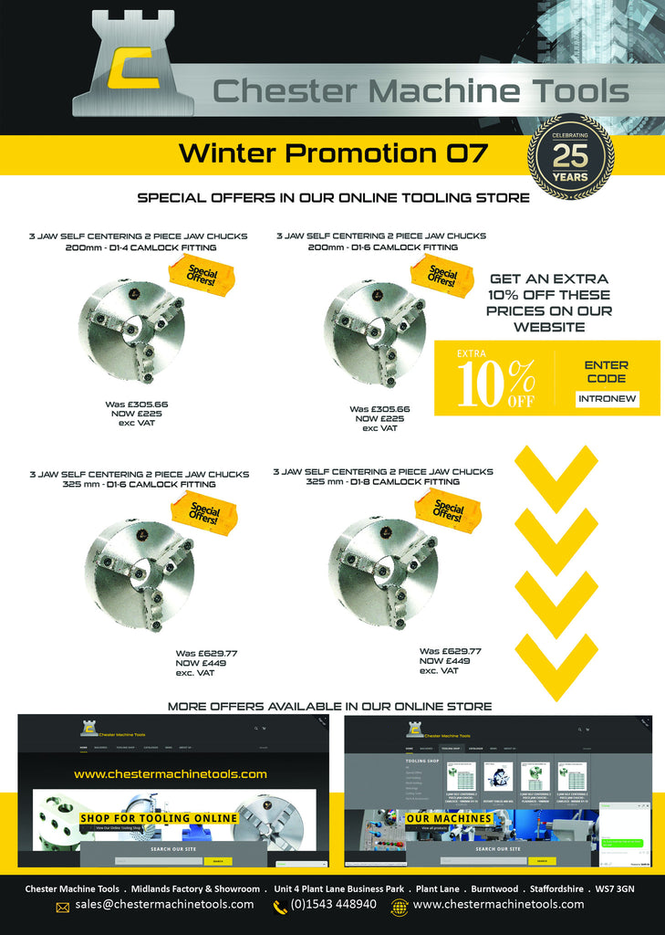 Chester Machine Tools Latest Promotion