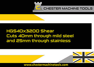 Chester Machine Tools Shear Machine in Action
