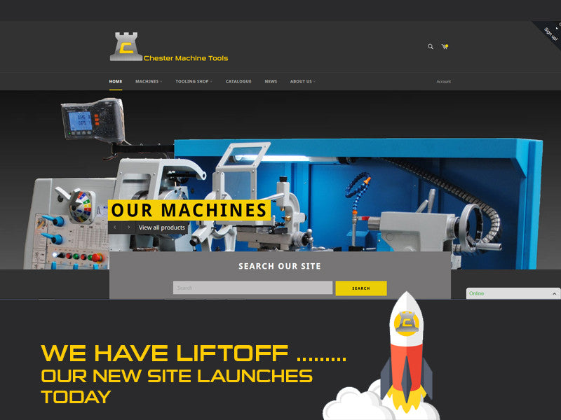 Introducing our new Chester Machine Tools industrial website