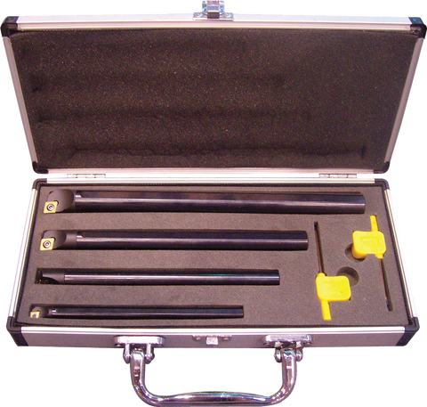 4 PIECES INDEXABLE BORING BAR SET 90 DEGREES - Chester Machine Tools