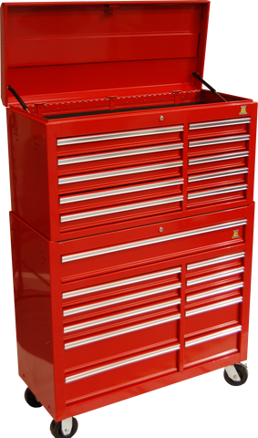 RED HEAVY DUTY TOOLBOX - ROLL CAB - TBR4407